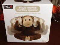 Magic moving monkey speaker