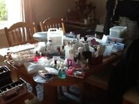 Huge bundle/job lot acrylic nail, professional salon items entity, no you, files, trainer, chairs
