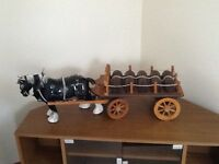 Ornament: Old fashioned horse and cart