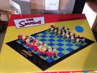 Simpsons chess set **PERFECT CONDITION NEVER USED