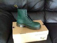 Green doc martens brand new