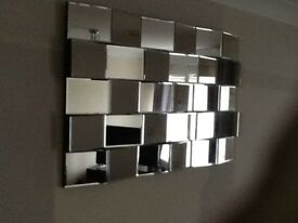 Retro decorative slate look mirror