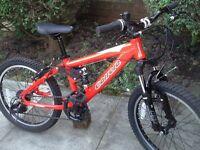 Carrera detonate dual suspension child's mountain bike like new