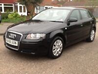 2006 Audi A3 sportback special edtition moted full service history 2 x keys hpi clear BARGAIN!!!!