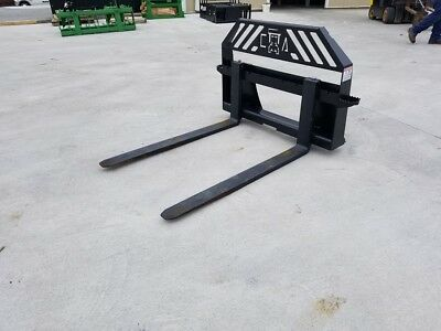 New Extreme Duty Pallet Forks--universal Skid Steer Hookup