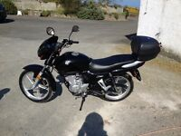 AJS 124 in Black. Great condition. Sold with top box and two sets of keys for bike and box