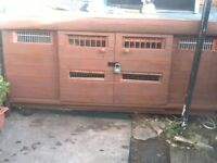 large hutch for sale with 4 diffrent compartments