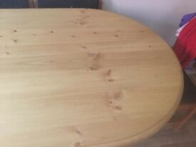 6 Seater Solid Pine Dining Table