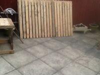 30ft solid fence x 4ft high and posts