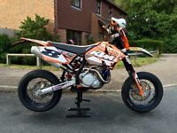 KTM 400 exc Full supermoto build incl off road setup .. ££££'s spent incl all receipts !!