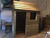 Wooden play house.