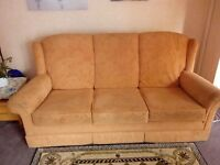 2 Three seater Settees and 1 Chair REDUCING PRICE TO £40 FOR QUICK SALE