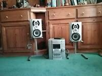 Sony music centre with speakers and stands