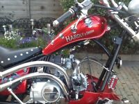 Mini moto American style chopper motorcycle with loncin engine