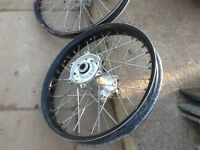 "KTM wheels with ""factory"" trick rims Talon hub"