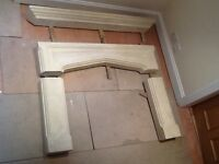 Classic solid stone fireplace Needs New Home : Bargain £80