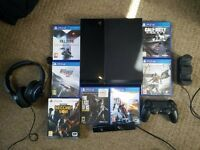 Playstation 4 500GB with 7 Games, Camera, Charging Dock & Headset