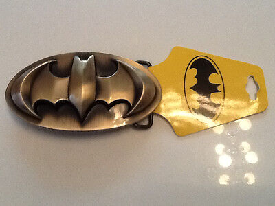 BATMAN BAT SIGN BELT BUCKLE ROUND EMBOSSED BRONZE GOLD DC COMICS WB CPGA(GIRL123](Bat Girl Belt)