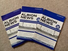 3 X West Bromich Albion Football Programme from 1964/ 1965