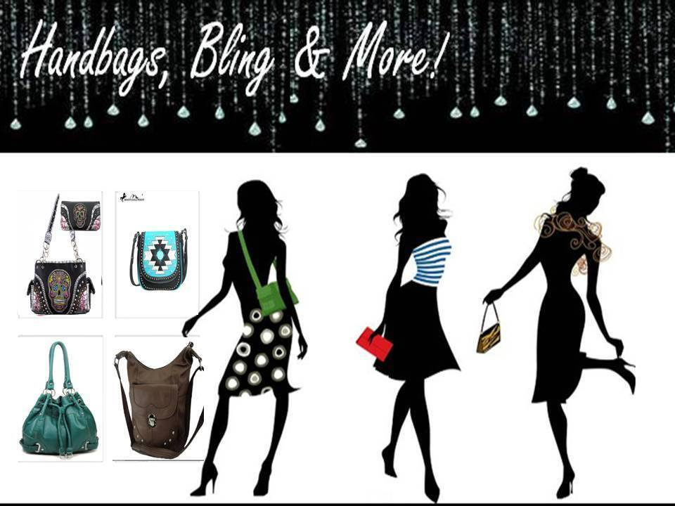 HANDBAGS,BLING,AND MORE