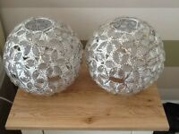 Two ceiling light shades