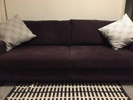 Bespoke Dark purple 2-3 seater sofa in excellent condition
