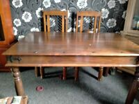 Jali Sheesham Dining Table & 4 Jali Chairs, Solid Wood