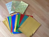 Card making holographic card bundle