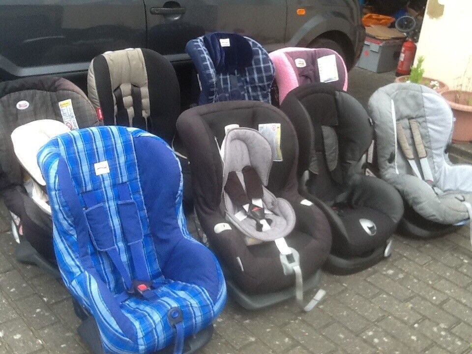 Car seats for 9mths to 4yrs(9kg upto 18kg)-several available from£25 to£45each-all washed & cleaned