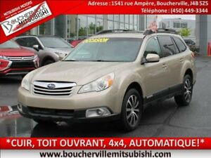2010 Subaru Outback LIMITED *GPS, 4x4, CUIR, TOIT OUVRANT, AUTO.