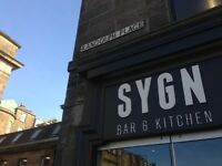 SYGN Bar & Kitchen - Waiting Staff Requiered