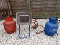 Gas Heater & Two Gas Bottles