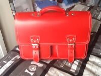 Red Leather Briefcase.