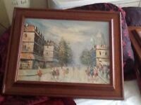 3lovely oil paintings 1large 2small in lovely condition