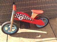 Sainsburys Grow & Play Kids Wooden Balance Bike
