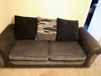 Grey and black 3 seater sofa CAN BE DELIVERED TOMORROW ONLY