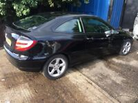 MERCEDES BENZ C CLASS REG 2007 SPARE OR REPAIR NONE RUNNER NEED RECOVERY TO MOVE THE TAX & MOT 2018