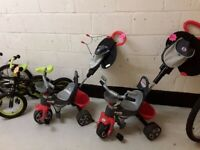 2 toddler tricycles £25 each Copley Mill LOW COST MOVES 2nd Hand Furniture STALYBRIDGE SK15
