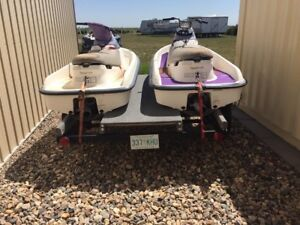 Two 97 master craft duo 200 jetskis