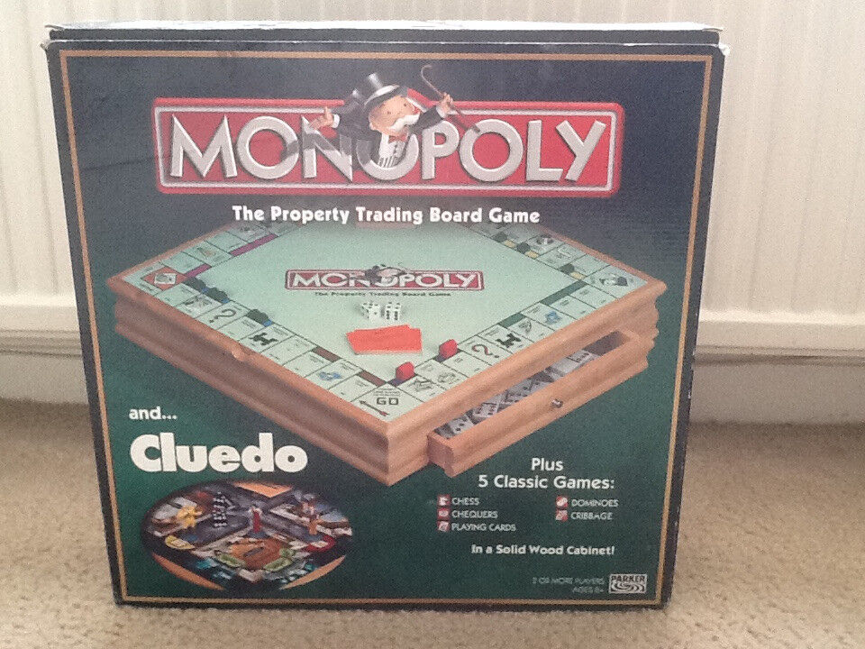 Monopoly And Cluedo Compendium Wooden Game Set In Swindon Wiltshire Gumtree