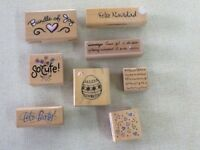 Craft Stamps x 8