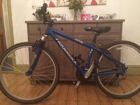 "Childs unisex electric blue ridgeback MX2 XS/15"", hardly used with lifetime guarantee. RRP £202.00."