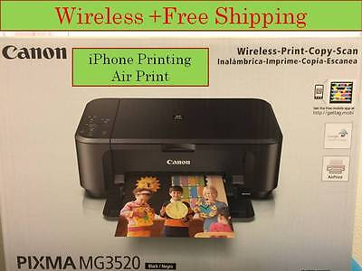 NEW Canon Pixma MG3520 (490) All In One  wireless Printer-Tablet/PC print