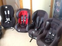 Between £25 upto £45 each-group 1 car seats for 9mths to 4yrs(9kg to 18kg child weight)-all washed