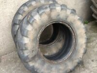 AGRI SHOVEL TYRES 405/70/20 MICHELIN XM27 RADIALS GOOD CONDITION £125 FOR BOTH TYRES