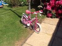 Girls first 2 wheel bike