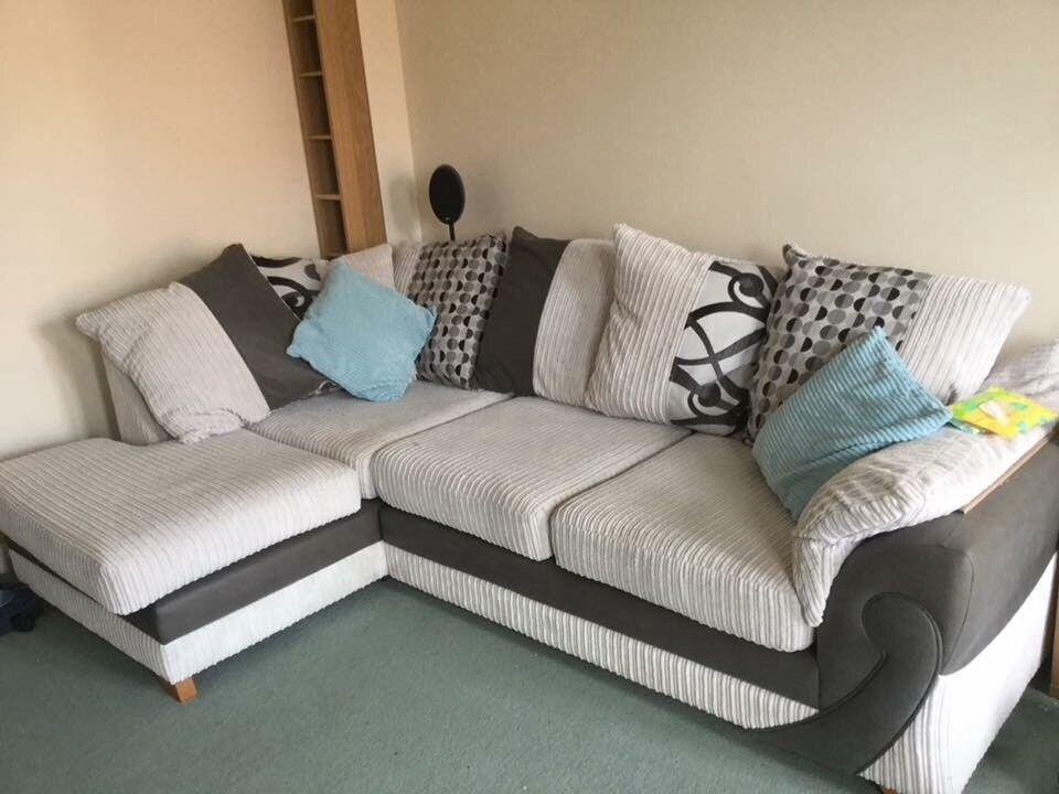 DFS Corner sofa and love chair