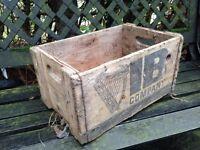 Irish wooden beer crate.
