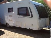 2014 LUNAR CLUBMAN SE CARAVAN 4 BERTH. COMPLETE WITH 3 ISABELLA AWNINGS