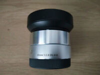 Sigma 30mm F2.8 art APS-C E-Mount lens